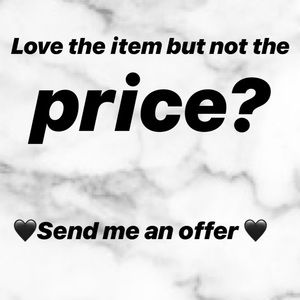 Accepting all reasonable offers 🛍